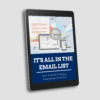 Its All In The Email List Ebook Cover